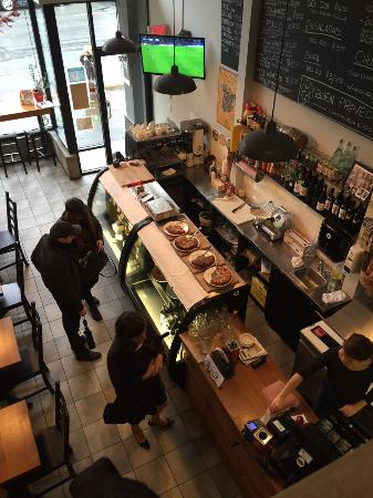 Chorizo & Co. : Chorizo & Co has a second floor overlooking the counter.