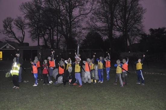 Keynsham, UK: Staine Lammas Youth football club battle in Surrey