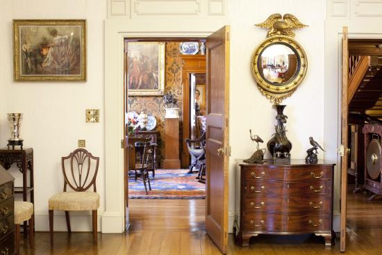 Olveston Historic Home: From the Drawing Room through to the Library
