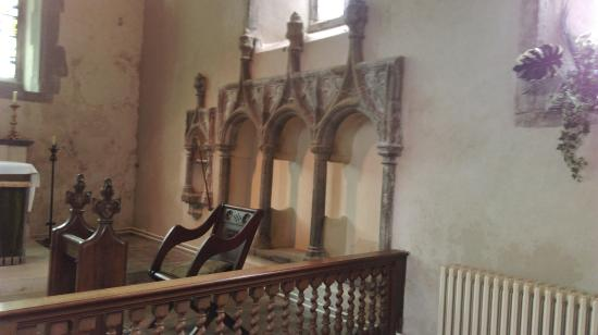 St Andrew's Church: Seating very ancient St Andrews Church Alfriston