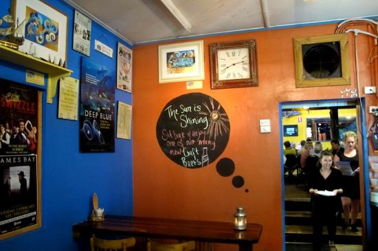 deep blue cafe funky decor