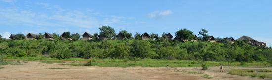 Национальный парк Моле, Гана: Panorama of the lodge from below
