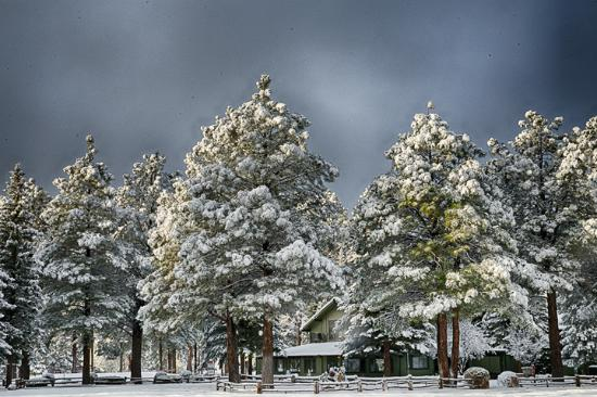 Pinetop Lakeside Snow Covered Cabin Picture Of Pinetop
