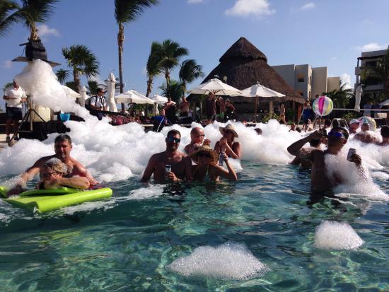 Secrets Maroma Beach Riviera Cancun Foam Pool Party