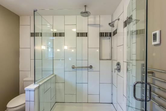 Bexley, OH: All  bathrooms have dual head shower, heated towel racks and heated floor