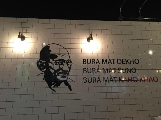 wall art with Mahatma Gandhi s quote Picture of Sindhi