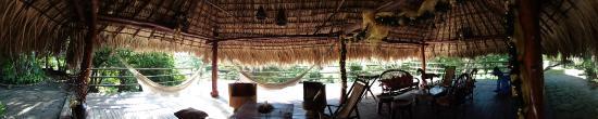Chinandega Department, Nicaragua: Terraza con hamacas