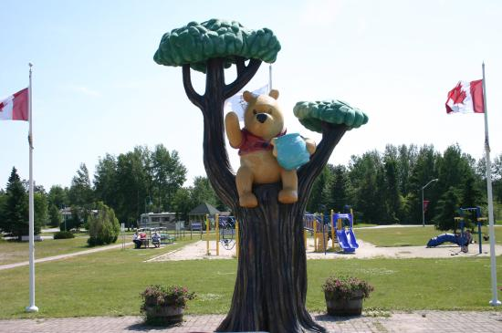 Winnie the Pooh Bronze Statue