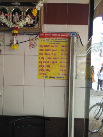 abs value for money menu - Picture of Old Sagar Benne Dosa