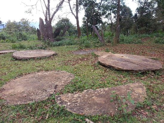 Houaphanh Province, ลาว: Hintang(Standing Stone) with the Disc shape