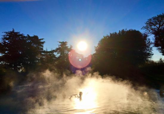 Hotel Garden Terme: Thermalbecken in der Wintersonne