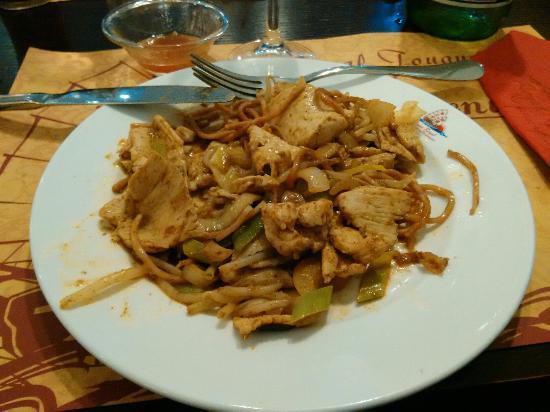 Touques, Frankrike: Poulet au  curry au wok   un delice