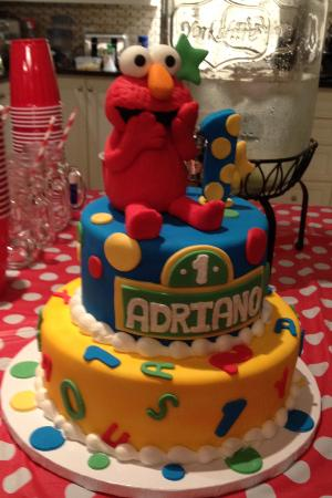 Swell Best 1St Birthday Elmo Cake Ever Boulangerie Patisserie Funny Birthday Cards Online Alyptdamsfinfo