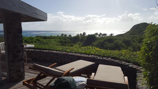Petit St.Vincent: View from terrace Cottage 21