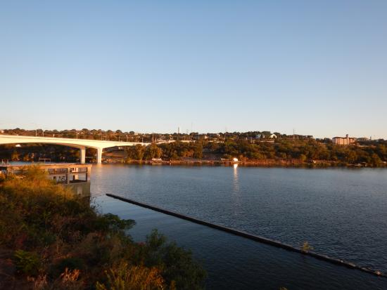 Hampton Inn Marble Falls-On The Lake: View from pool deck.
