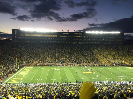 Ann Harbor, MI: Michigan Stadium - night of the miracle