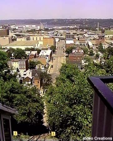 Dubuque, IA: View from the top at Fenelon Place Elevator