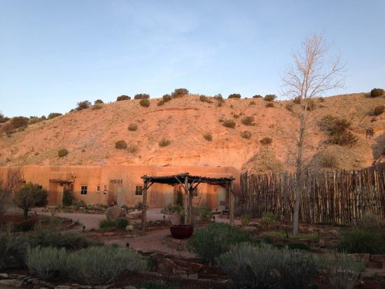 ...early morning on the plaza at Ojo Caliente, NM