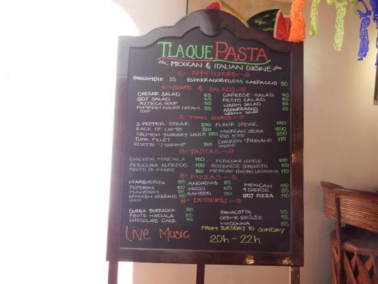 Tlaquepaque Restaurant San Jose Menu