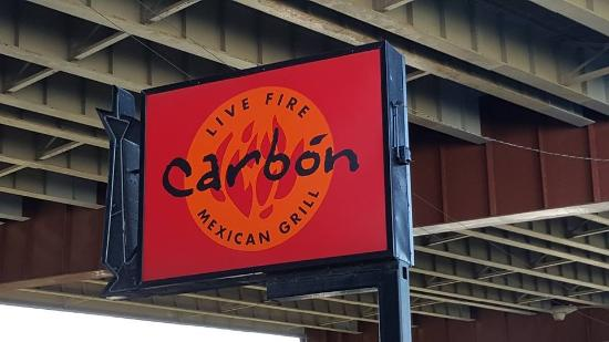 Carbon Live Fire Mexican Grill : Carbón restaurant under an overpass on 26th Street, Chicago, IL
