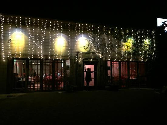 "Isabel's Cantina: ""Outside view at night"""