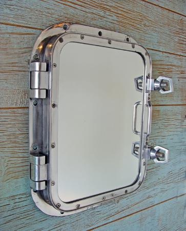 Nautical Wall Mirror nautical wall mirror made using a vintage aluminum ship's window