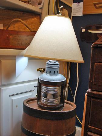Skipjack Nautical Wares u0026 Marine Art Gallery Antique boat stern light repurposed in to a & Antique boat stern light repurposed in to a nautical table lamp ...