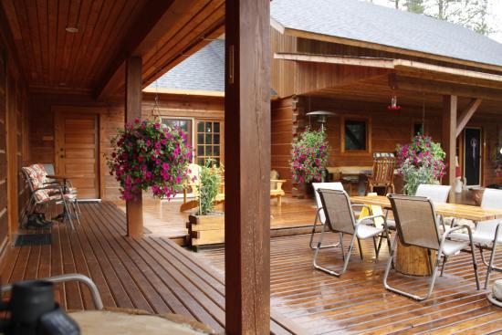Moul Creek Lodge B & B : Terrasse