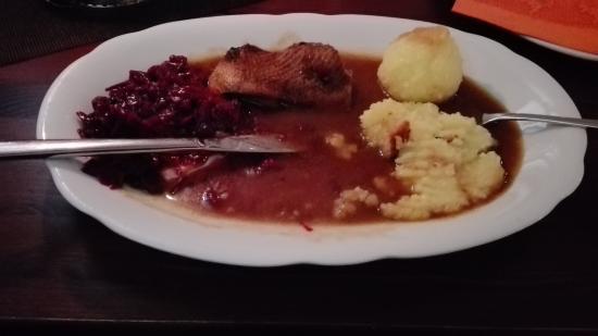 Hohenleuben, Alemanha: Gänsebrust  lecker