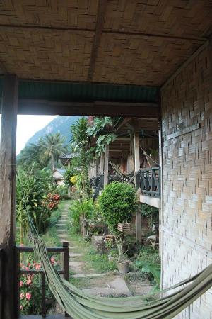 Nicksa's Place: The surrounding area with row of bungalows in sight