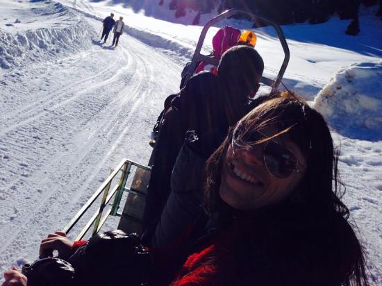 Rifugio Molignon Mahlknechthuette: Il percorso in motoslitta per raggiungere il rifugio