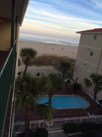 Desoto Beach Hotel: Sunset from 3rd floor balcony