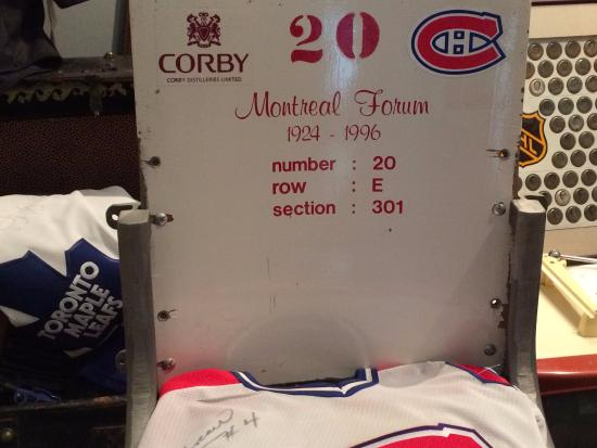 Windsor, Canadá: Jean Beliveau's seat from the Montreal Forum