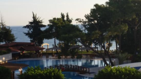 SENTIDO Palmet Resort: Blick aufs Meer vom 1. Stock