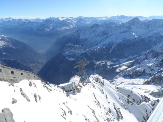 Panorama Dal Terrazzo Circolare Sulla Cima Del Monte Bianco