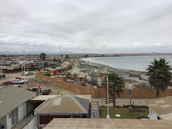 Vista de la Playa Grande desde las alturas deTongoy