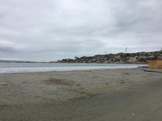 Tongoy, Chile: En la entrada de autos a la Playa Grande