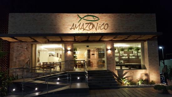 Fachada restaurante fotograf a de amazonico peixaria for Fachadas de restaurantes modernos