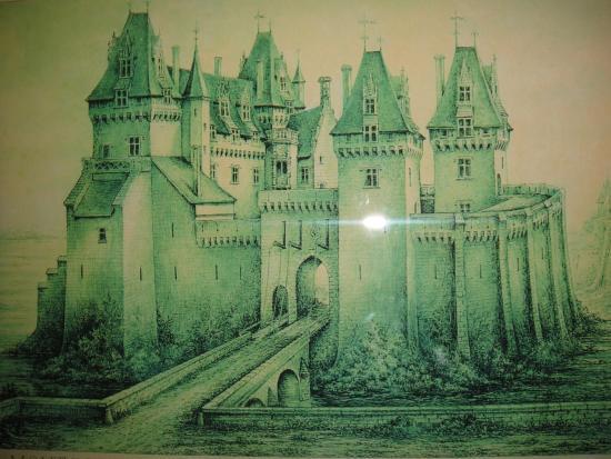 Montsoreau, Francia: Изображение замка из экспозиции