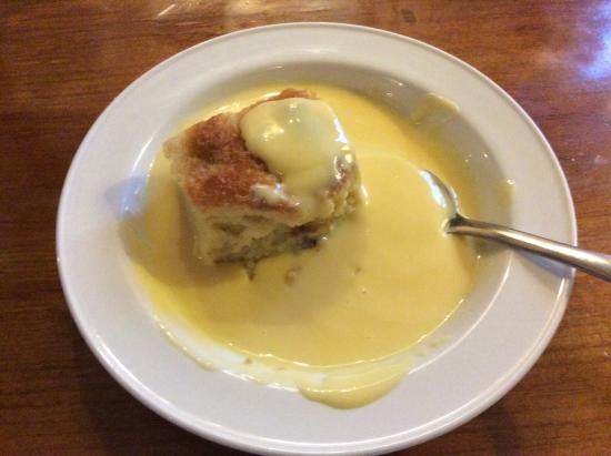 Hartlebury, UK: Bread and butter pudding