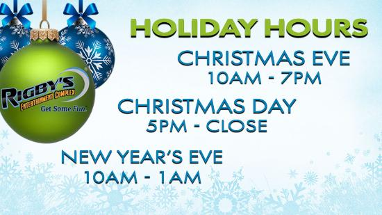 Holiday Hours, Rigby's is open on Christmas Eve, Christmas Day ...