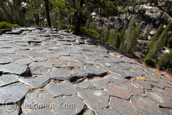 Devils Postpile National Monument: Devil's Postpile -- top view