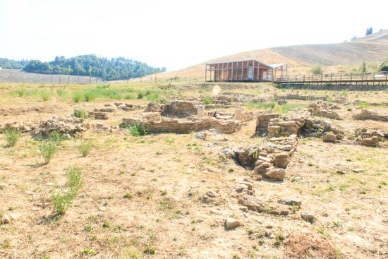archeological site of an old church near San Giovanni d'Asso
