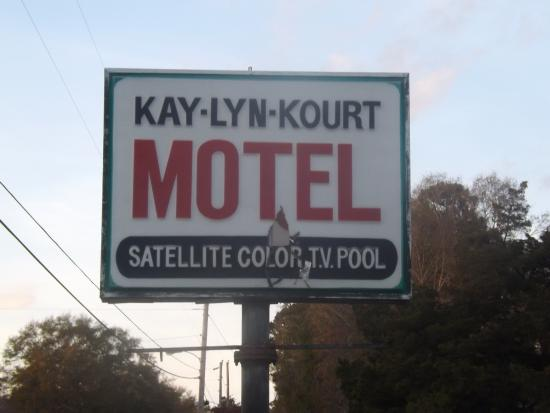 Richland, GA: Motel sign