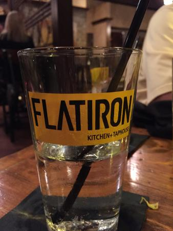 Beer glass (for sale) - Picture of Flatiron Kitchen + Taphouse ...