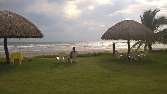 Las Lajas Beach Resort Restaurant Bar Relaxing By The Cabanas