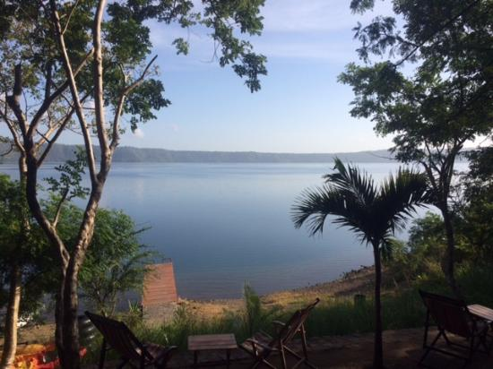 San Simian Eco Lodge: View of Laguna de apoyo