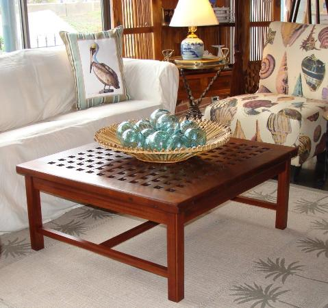 Skipjack Nautical Wares & Marine Art Gallery: Custom made nautical coffee  table with authentic teak - Custom Made Nautical Coffee Table With Authentic Teak Ship's Grate