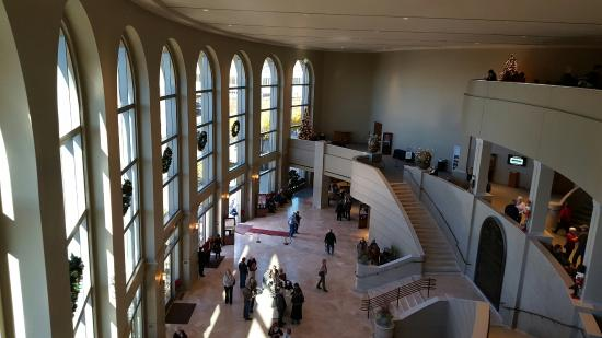 Gallo Center for the Arts: View from 3rd floor looking at entry way.