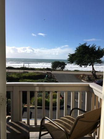 view from room picture of pelican inn suites cambria. Black Bedroom Furniture Sets. Home Design Ideas